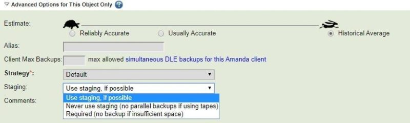 Use Staging for Backup