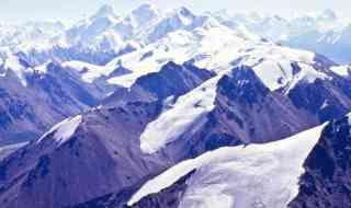 Glaciers in the Tien Shan range with Khan Tengri in background, Kazakhstan