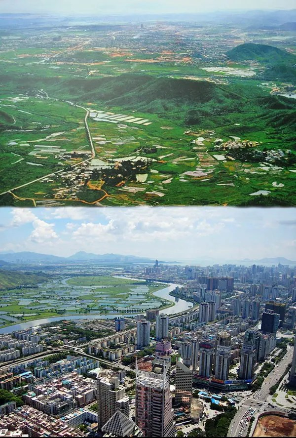 Shenzen, China. 1980 vs 2011.