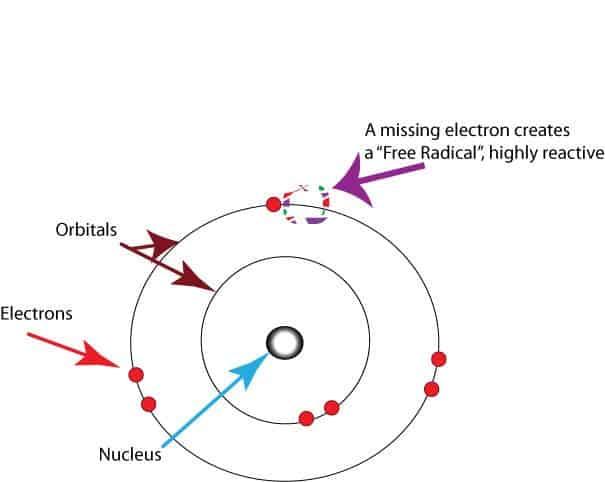 atom structure free radical