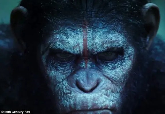 Caesar the chimp from 'Planet of the Apes'.