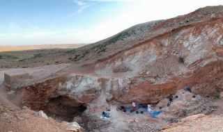 The Jebel Irhoud site in Morocco. Credit: Shannon McPherron/Nature.