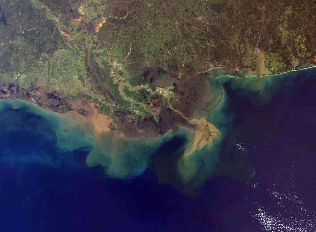 Mississippi Delta Sediment Plume.