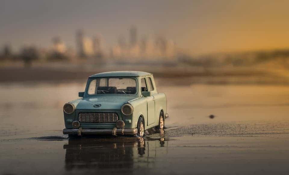 Miniature car.