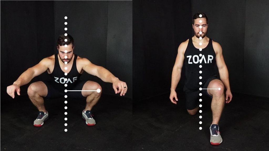 squat versus lunge