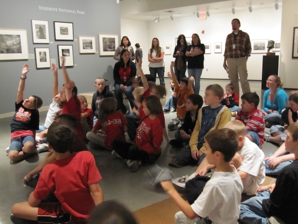 "Fourth graders from Curtis Creek Elementary School in Sonora visited the ""Ansel Adams: California"" exhibition in 2011."
