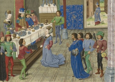 Image result for medieval manuscript nobles feasting