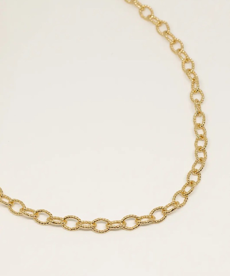 Collier grosse maille tendance