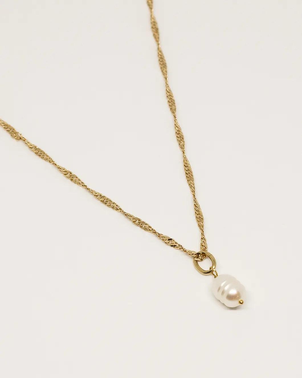 Collier pendentif perle de culture
