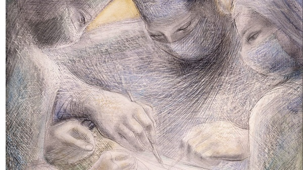 Dame Barbara Hepworth. Concentration of the hands II.