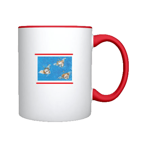 SHOPPING : The rear of red mug 7J8