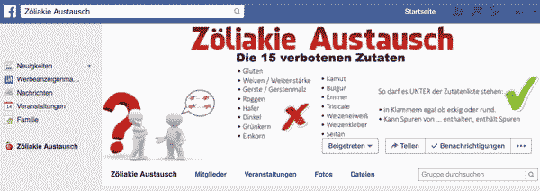 Facebookgruppe: https://www.facebook.com/groups/zoeliakie.austausch/