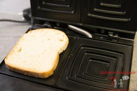 Schär Weißbrot im Sandwichmaker