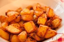 Kartoffelecken als Beilage