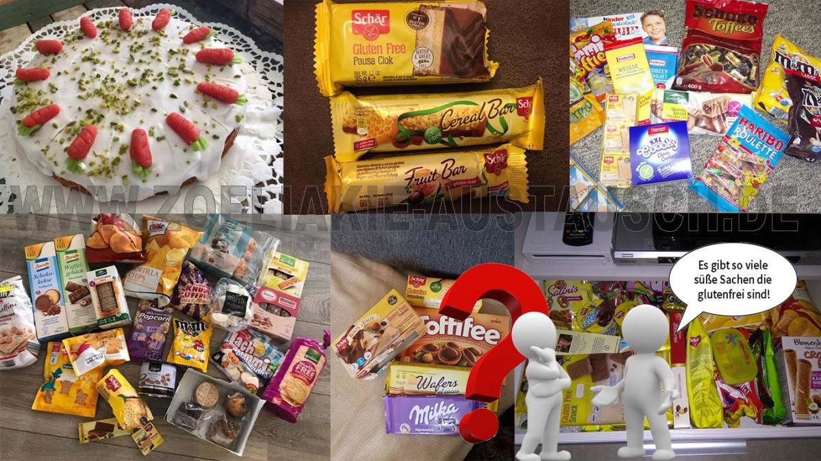 Die glutenfreien Lieblingssüßigkeiten der Zöliakie Austausch Mitglieder