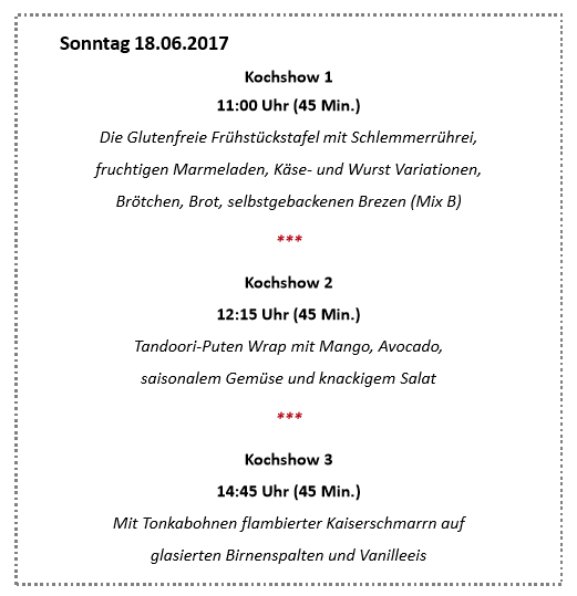Kochshow Schär auf der Allergy & free from Show 2017