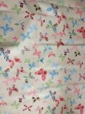 Butterfly print cotton fabric