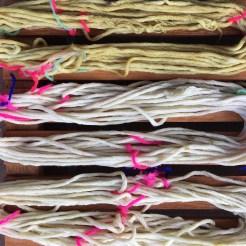 Sage Dye: Yarn close up