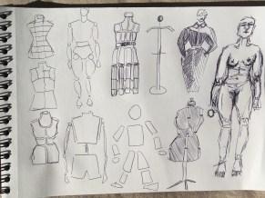 Different kinds of mannequins
