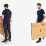 Portable standing desk chair