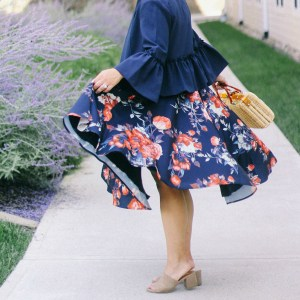 Navy Floral and Frills for Fall