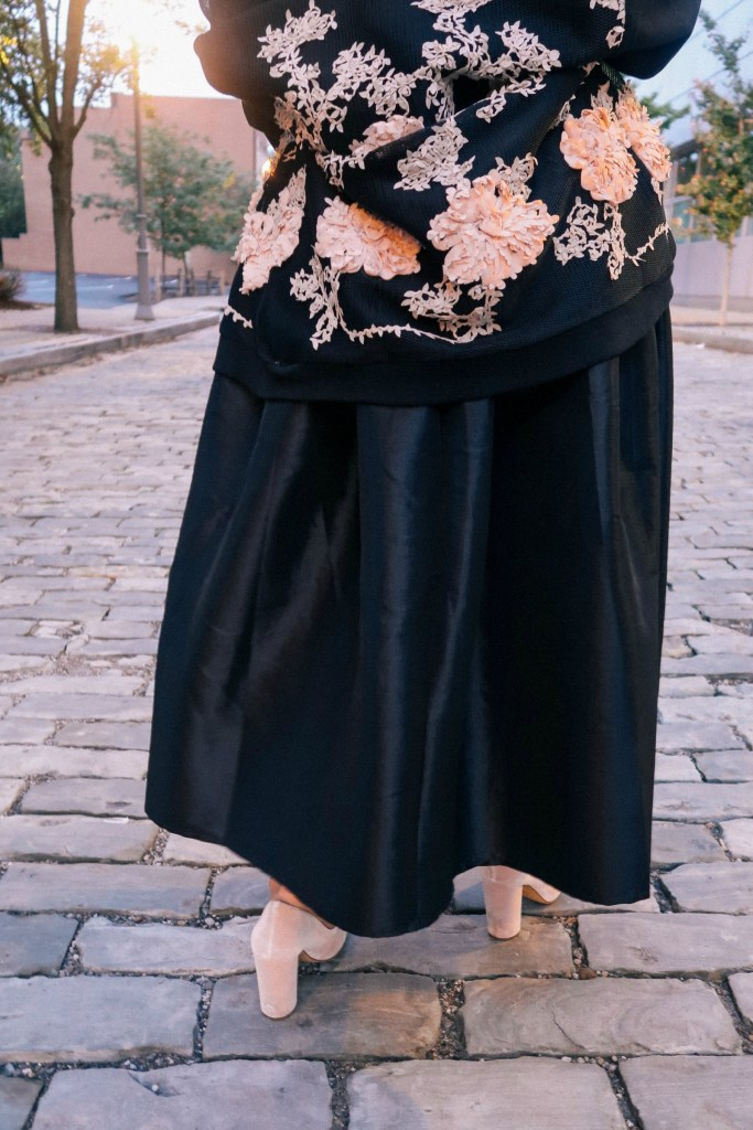 Vici Dolls black bomber jacket with skirt