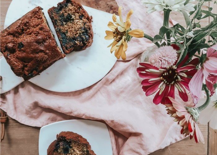 Healthy Blueberry Banana Bread Recipe | Zoë With Love