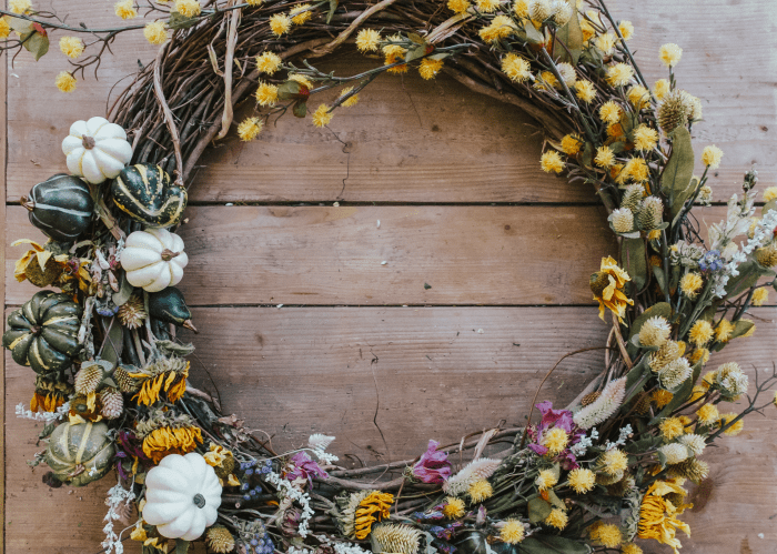 How to Make a Dried Floral Fall Wreath | Pittsburgh Lifestyle Blog, Zoë With Love