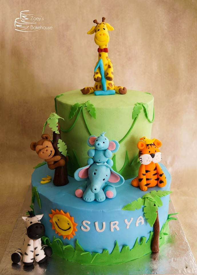 Zoeys Bakehouse Animal Theme Birthday Cakes