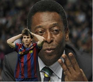 """Messi hi footballer ropui ber a la ni lo"" - Pele"
