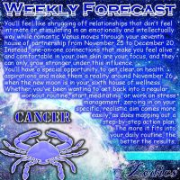 What do you think about the new layout? Cancer - week of November 25. Tag your C...