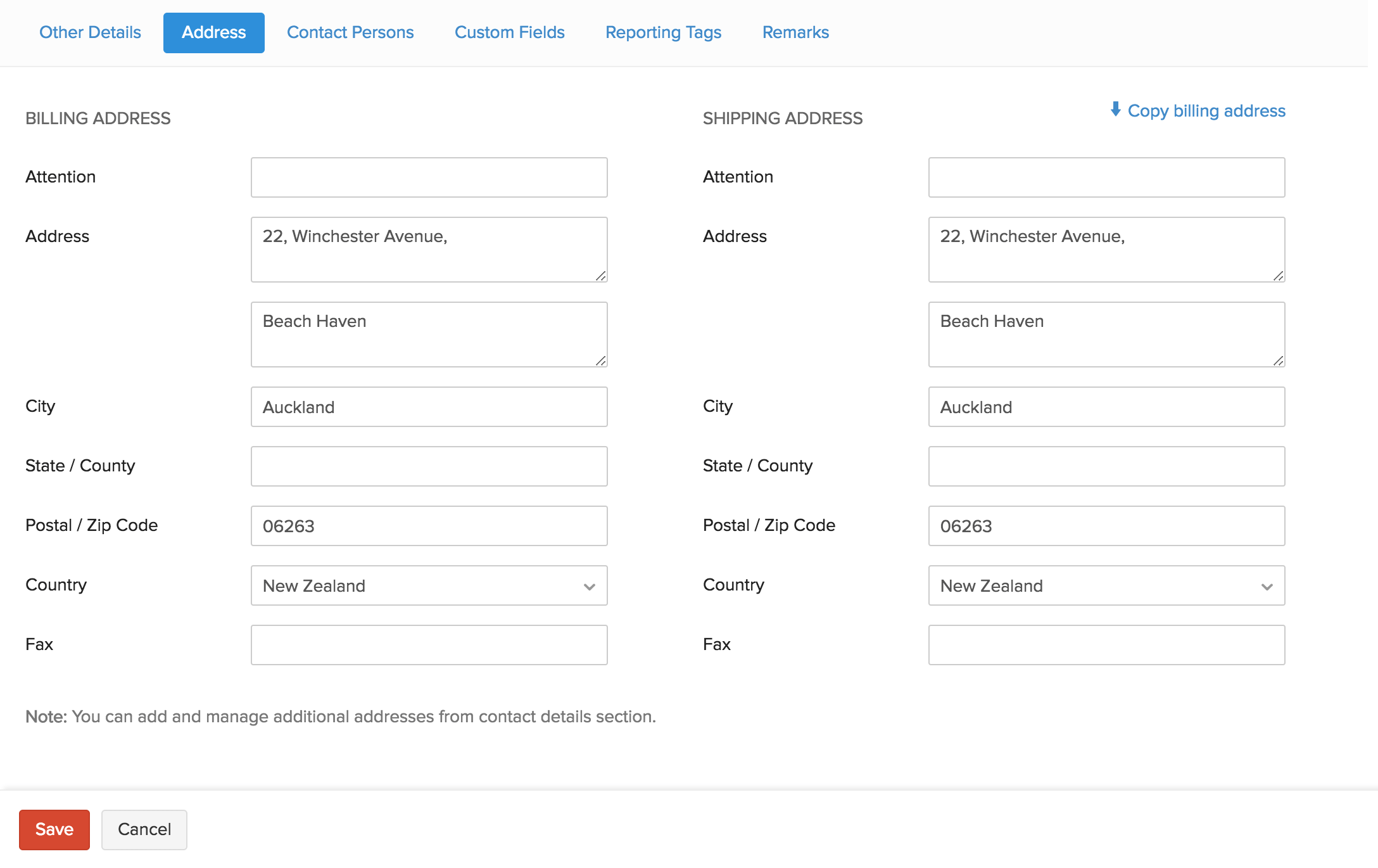 Contacts Create Import Help