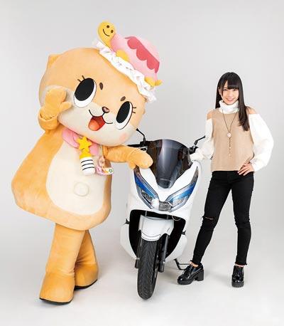 仮面女子とバイク 月野もあ/ちぃたん☆