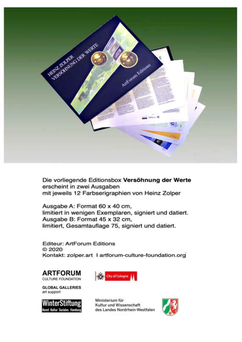 ZOLPER - Versöhnung der Werte. Editionsbox, ArtForum Editions