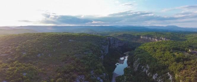 Ardèche vanuit de lucht - foto van Nils