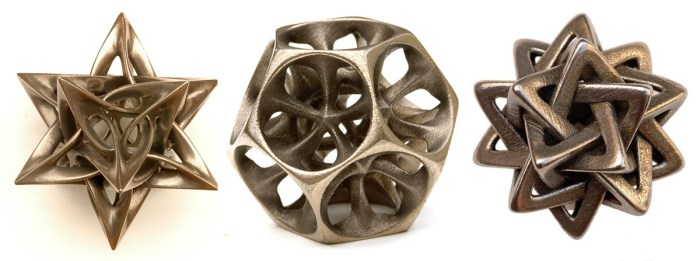 MAY 2015 | VLADIMIR BULATOV -- 3D printed metal sculptures of mathematical ideas