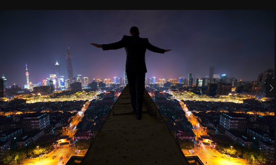 High Above Shanghai on the Edge of Life Jonathan Scott Paulson