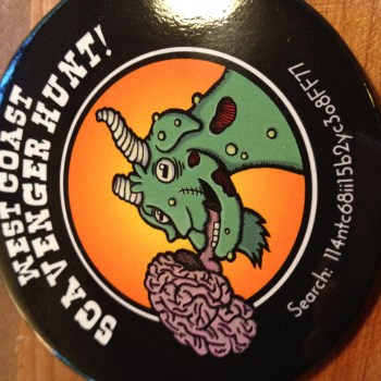 zombie circus goats scavenger hunt button