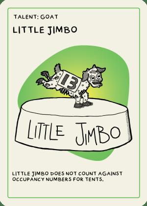 zombie circus goats little jimbo card
