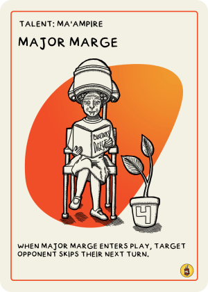 zombie circus goats major marge card