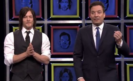 Norman Reedus vs Jimmy Fallon on Facebreakers... with a Crossbow