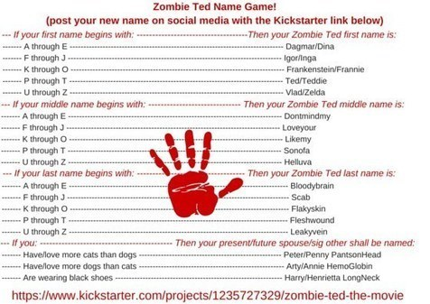 Support Zombie Ted, and Tell Us: What's Your Zombie Name?