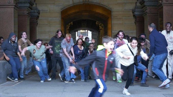 Zombie Apocalypse Pranks: Hilarious Mob Closes in On Unsuspecting Philadelphians