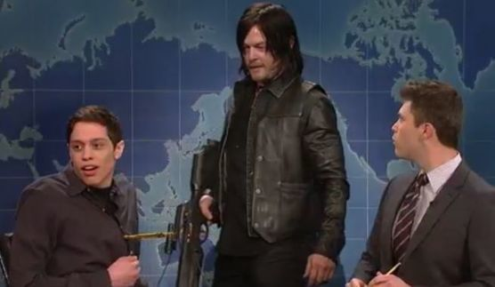 Norman Reedus Kills a Weed Zombie on Saturday Night Live