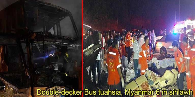 Thai gamsung ah Bus golpikhat guamsung ah kia, Myanmar gammi 6 si, adang mi 30 liam