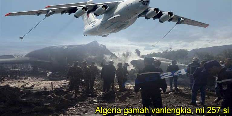 Algeria gamsung ah vanleng khat kia, mi 257 takin sihlawh