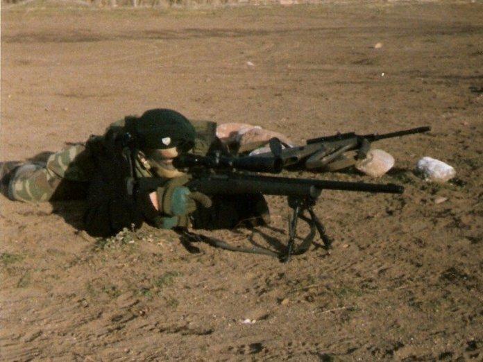 Comando del Ejército Argentino armado con M-24 SWS. Imagen: Ejército Argentino