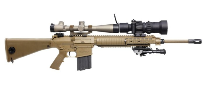 Fusil M-110 SASS de Knights Arms. Imagen: KA Inc.