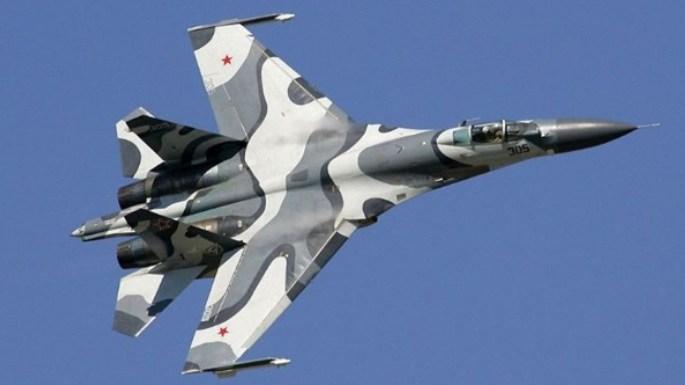 Avión de combate Su-27 ruso se estrella