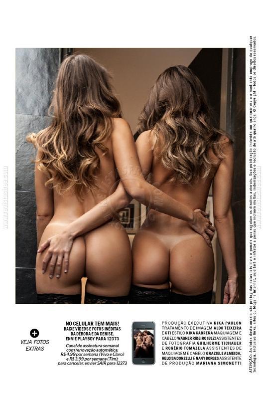 Debora Tubino y Denise Tubino Playboy Diciembre 2012 Brasil (4)